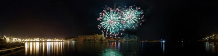 Collioure New Year's Eve fireworks 06