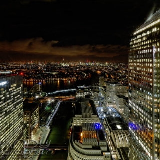 London from Canary Wharf