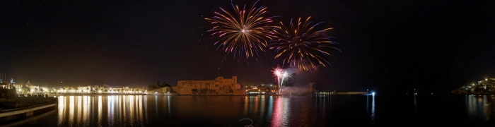 Collioure New Year's Eve fireworks 04