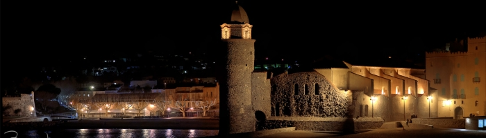 Collioure by night pano 03