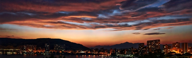 Alicante panoramique Albufereta by night