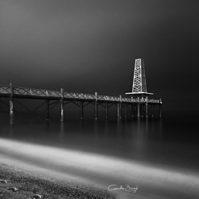 Leucate pier by night - Aude - south of france - France